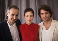 Olivier Assayas, Nora Von Waldstatten and Edgar Ramirez at the 63rd Annual Cannes Film Festival.
