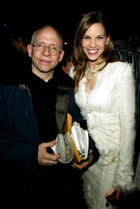 Bob Balaban and Hilary Swank at the after party for the premiere of