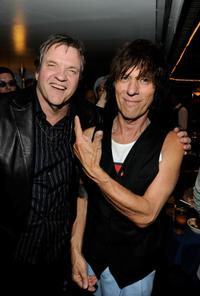Meat Loaf and Jeff Beck at the after party of Les Paul's 95th Birthday.