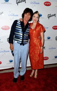Jeff Beck and Imelda May at the after party of Les Paul's 95th Birthday.