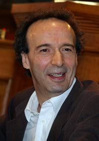 Roberto Benigni at the press conference for promotion of