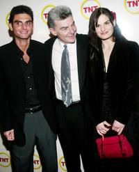 Richard Benjamin with his son Ross and daughter Prentiss at the screening of