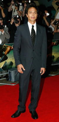 "Benjamin Bratt at the premiere of ""Catwoman"" in London."