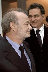 Claude Berri and Serge Toubiana at the inauguration of the French Cinematheque, re-set in Bercy district in Paris.