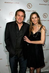 Mike Binder and Dominique Cohen at the opening of the Dominique Cohen Flagship Jewelry Store.