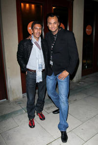 Rachid Bouchareb and Ramzy Malouki at the premiere of