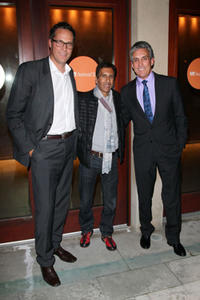 Olivier Gurson, Rachid Bouchareb and Charles Cohen at the premiere of