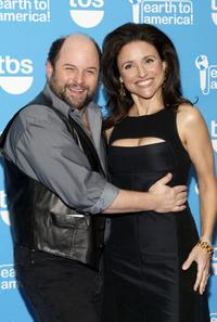Jason Alexander and Julia Louis-Dreyfus at the taping of the