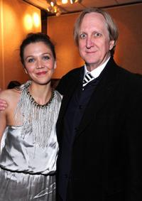 Maggie Gyllenhaal and T-Bone Burnett at the premiere of