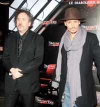 Tim Burton and Johnny Depp at the premiere of