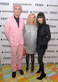David Byrne, Cindy Sherman and RoseLee Goldberg at the Performa 09 Opening Night Benefit Dinner.