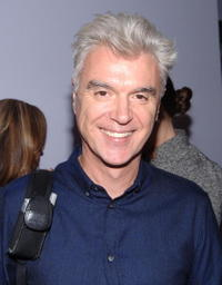 David Byrne at the screening of