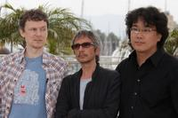 Michel Gondry, Leos Carax and Bong Joon Ho at the photocall of