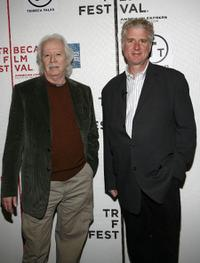 John Carpenter and David D'Arcy at the 2007 Tribeca Film Festival.