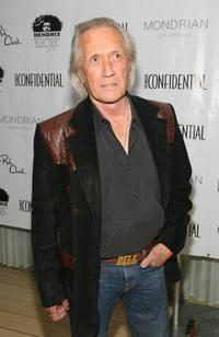 David Carradine at the LA Confidential Magazine's Annual Oscar Party.