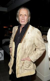 David Carradine at the AOL and Warner Bros. Launch of In2TV.