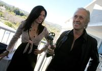 David Carradine and Annie Bierman at the Beverly Hilton for the 2007 World Talent Style lounge.