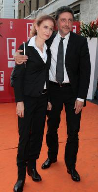 Margaret Mazzantini and Sergio Castellitto at the premiere of