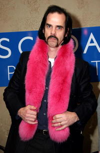 Nick Cave at the Escada Sport Display at Gibson Guitar Lounge.