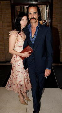 Nick Cave and Susie Bick at the Mojo Honours List Awards ceremony.