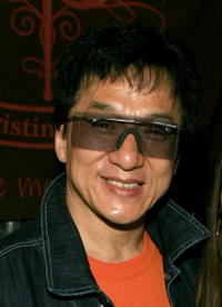 Jackie Chan at the Distinctive Assets gift lounge during the 20th annual Kid's Choice Awards in L.A.