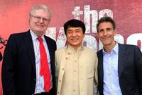 Sir Howard Stringer, Jackie Chan and Michael Lynton at the California premiere of