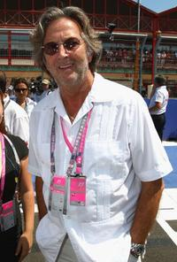 Eric Clapton at the European Formula One Grand Prix.