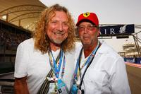 Robert Plant and Eric Clapton at the Bahrain Formula One Grand Prix.