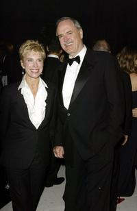 John Cleese and his wife at the Bond Marquee Albert Memorial for the world premiere party for the film