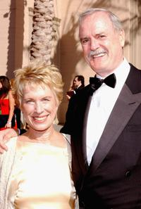 John Cleese and Alice Faye Eichelberger at the Shrine Auditorium for the 2004 Primetime Creative Arts Emmy Awards.