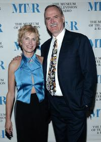 John Cleese and Alice Faye Cleese at the Museum of Television & Radio event honoring Cleese at Beverly Hills.