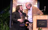 John Cleese and Peter Jackson at the Arlington Theatre for the Modern Master award during the 19th Annual Santa Barbara International Film Festival.