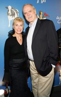 John Cleese and Alyce Faye Eichelberge at The Grail Theater at the Wynn Las Vegas for the premiere of