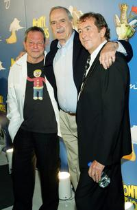 John Cleese, Terry Gilliam and Eric Idle at The Grail Theater at the Wynn Las Vegas for thhe premiere of