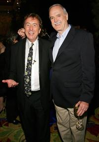 John Cleese and Eric Idle at The Grail Theater at the Wynn Las Vegas for the after party premiere of