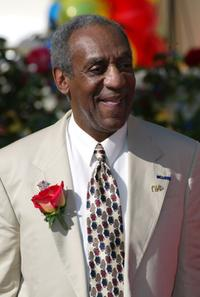 Bill Cosby looks over the crowd after he was announced as a Grand Marshall to lead the 2003 Rose Parade.