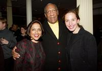 Bill Cosby, Mira Nair and Caroline Baron at a reception following a special screening of