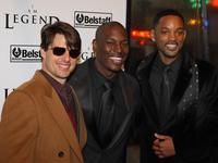 Tom Cruise, Tyrese Darnell Gibson and Will Smith at the New York premiere of