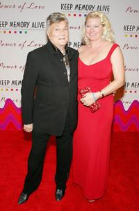 Tony Curtis and his wife Jill at the Memory Alive Foundation's 10th annual gala.
