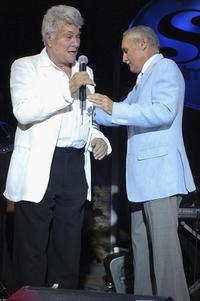Tony Curtis and Dennis Hopper at the Viva Las Vegas Party during Cinevegas 2005.