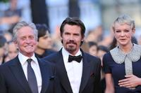 Michael Douglas, Josh Brolin and Carey Mulligan at the premiere of