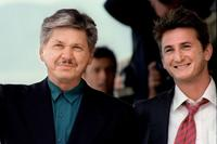 Charles Bronson and Sean Penn at the 44th Cannes Film Festival.