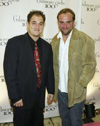 Michael DeLuise and David DeLuise at the WB Networks'