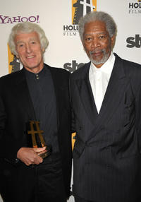 Roger Deakins and Morgan Freeman at the 13th Annual Hollywood Awards Gala Ceremony.