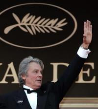 Alain Delon at the 60th International Cannes Film Festival premiere of Chacun Son Cinema.