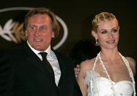 Gerard Depardieu and and Cecile De France at the Palais des Festivals premiere of
