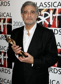 Placido Domingo at the Awards Room with the Lifetime Achievement award during the annual classical music awards.