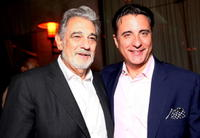Placido Domingo and Andy Garcia at the world premiere of