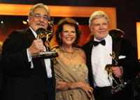 Placido Domingo, Claudia Cardinale and Hardy Krueger at the Bambi Awards 2008.