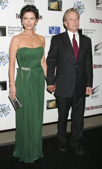 Michael Douglas and wife Catherine Zeta Jones at the third annual